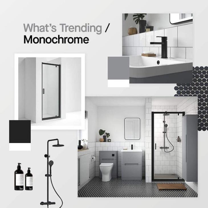 Monochrome bathroom trends